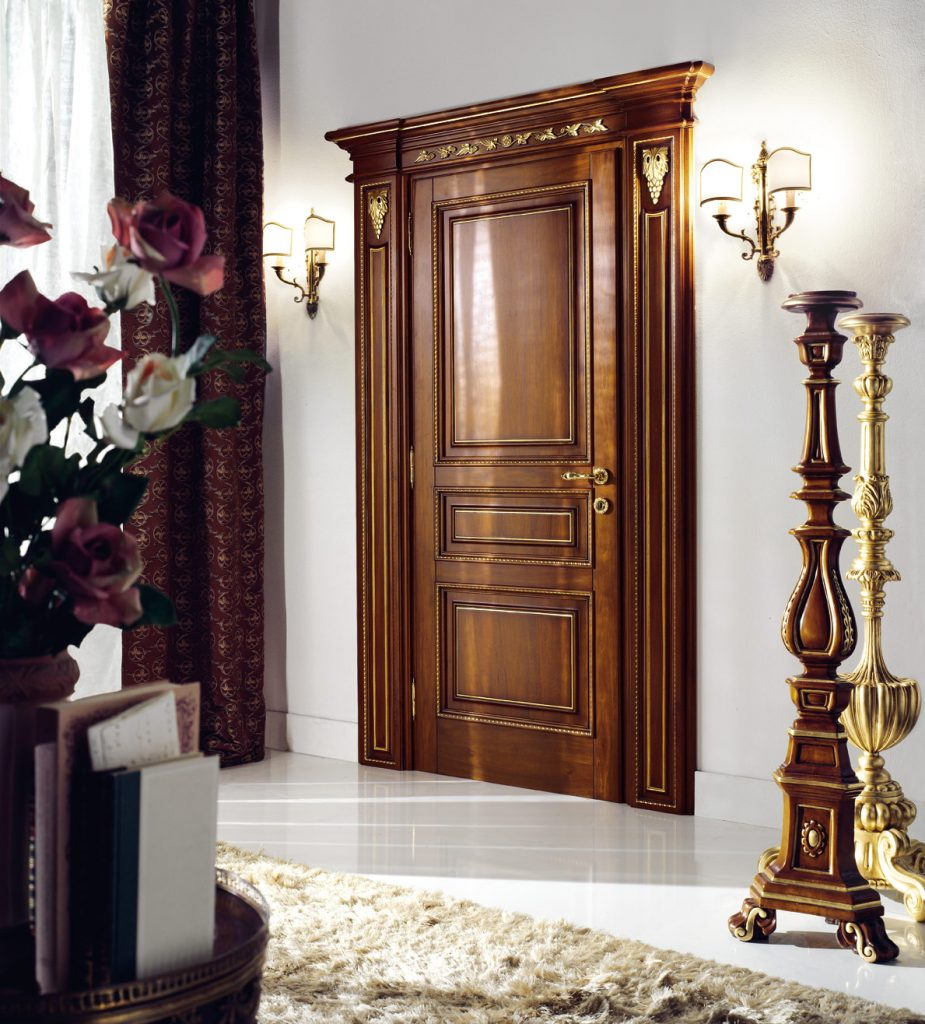 A photo of a fortified and secure bedroom door.