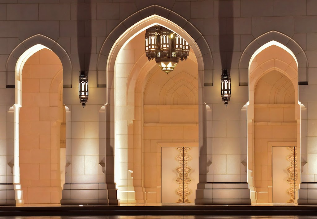 A photo of custom security doors that face a large, open rotunda.