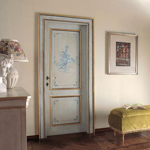 A photo of a bedroom security door in a luxury home.