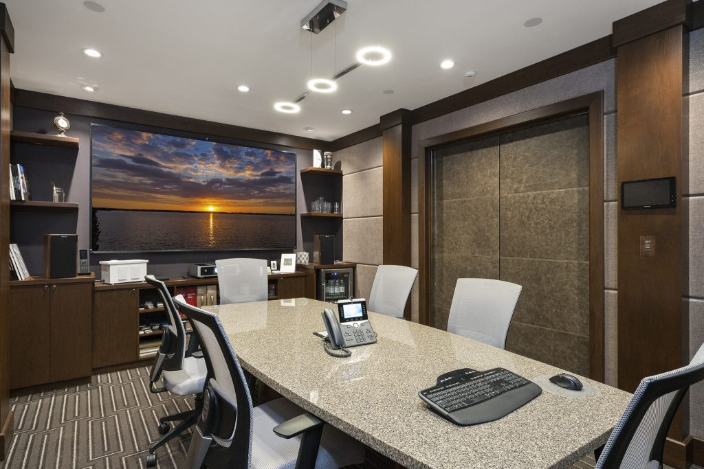 A photo of the conference room at FBS headquarters.