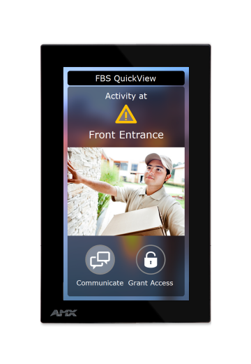A screenshot of the front entrance camera through the FBS Sanctuary Management System.