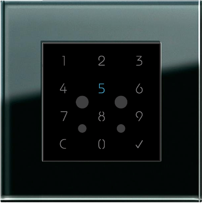 A photo of a security keypad used as part of FBS facial recognition panels.