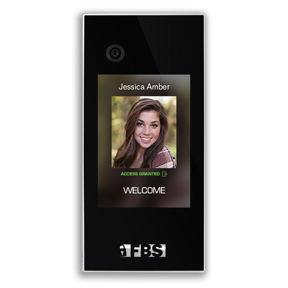 A screenshot of FBS facial recognition software positively identifying a resident and allowing her access.