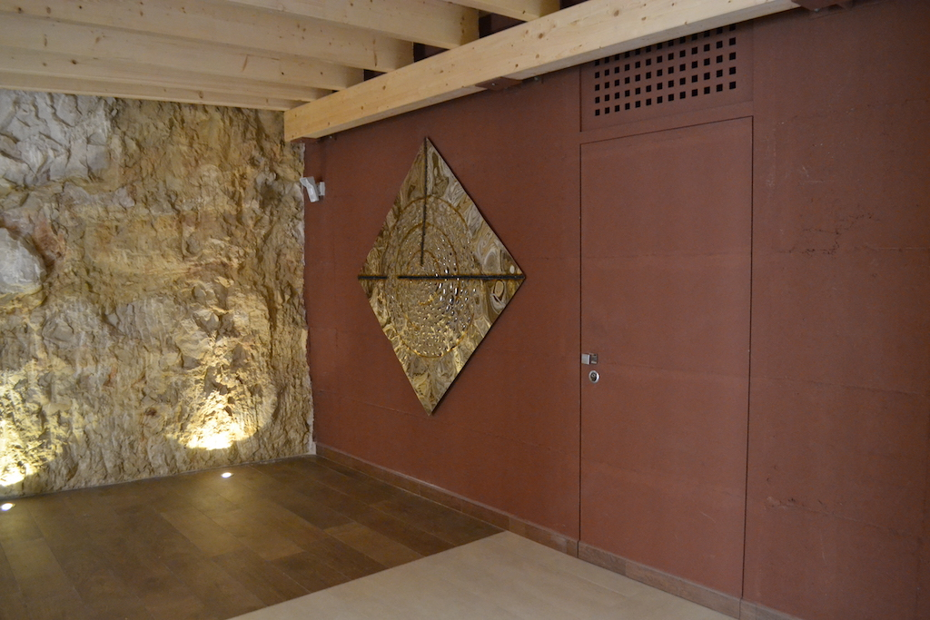 A photo of a bedroom security door leading to the master suite in a luxury home.